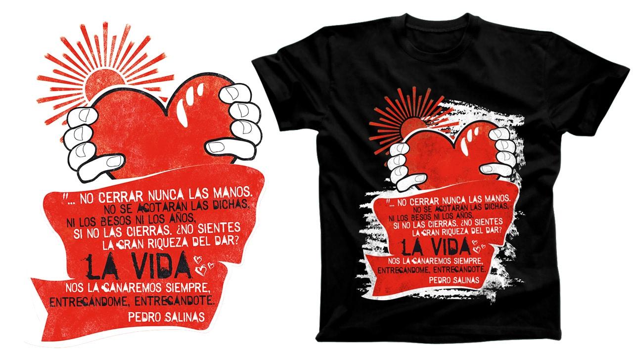 Camiseta Versos Poemas